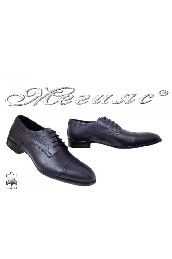 Мъжки обувки Фантазия 18143-02-2 тъмно сини от естествена кожа елегантни