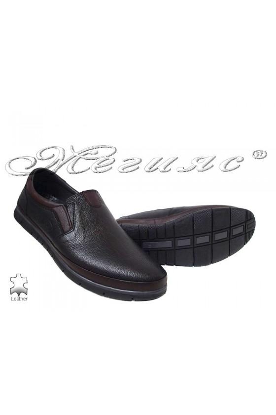 Men's shoes 778-14-29 black/brown leather