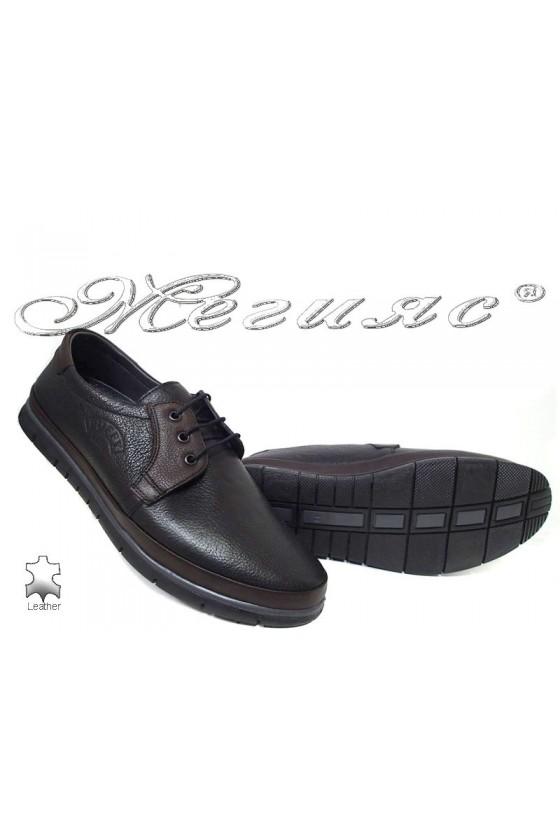 Men's shoes  780-14-29 black leather