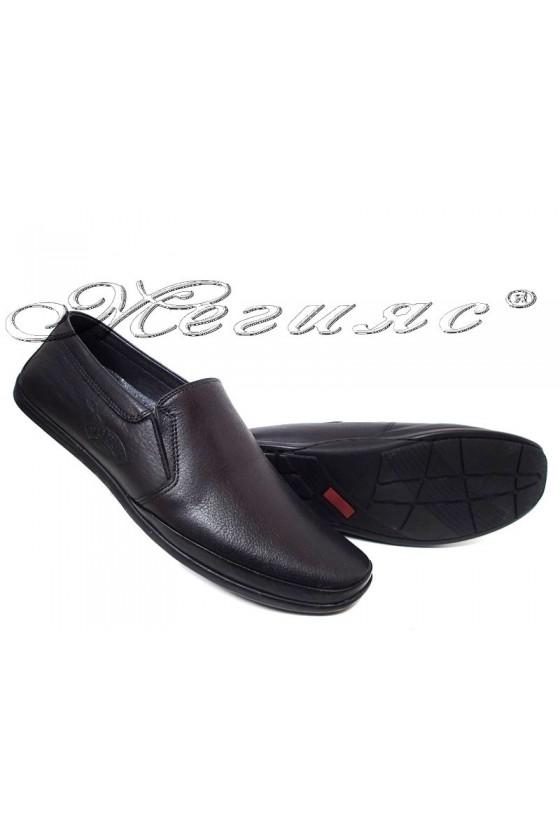 Men's shoes 739-14 black leather