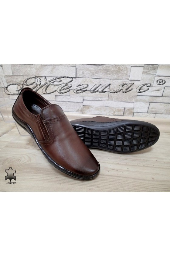 Men's shoes 1401 brown leather