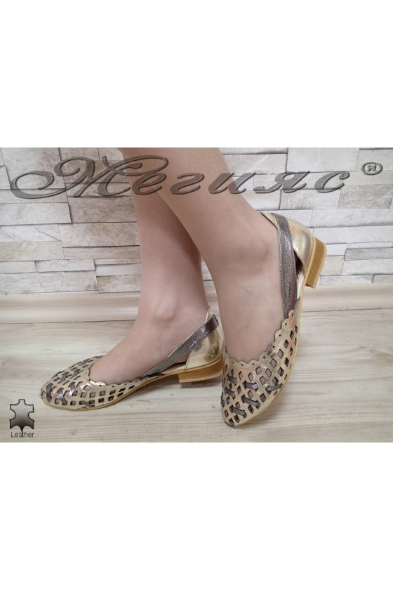 Women shoes XXL 112-14 Lt.gold leather