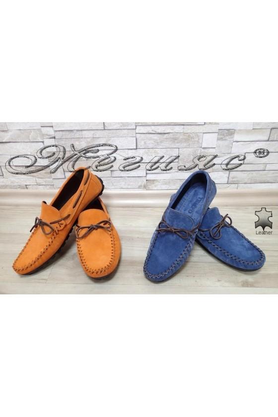 Мъжки обувки 01 тип мокасини от естествен велур