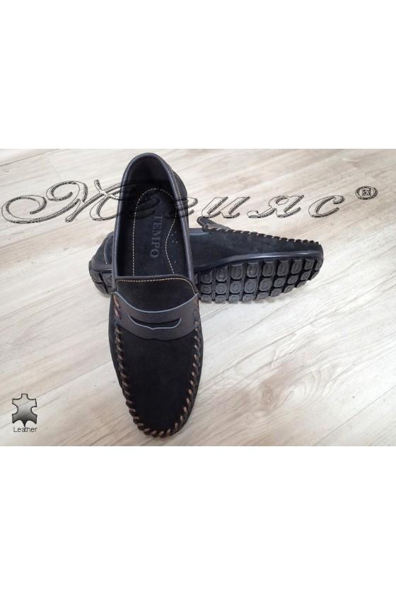 Men's shoes 05 black suede leather