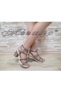 Ladies sandals 58-100 silver