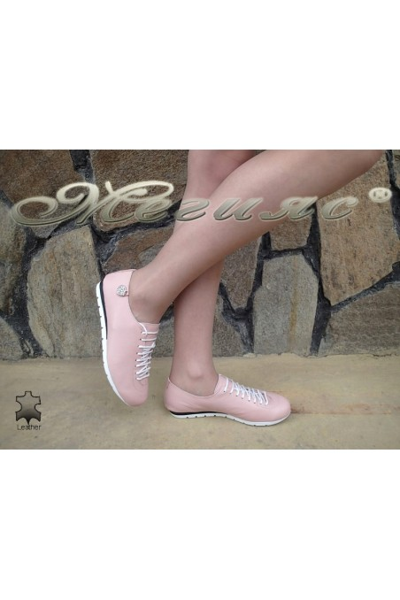 Lady sport shoes 3116 rose leather