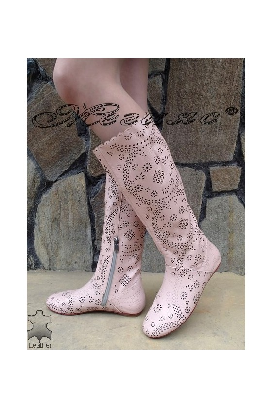 Ladies summer boots XXL 06-F giant pink leather