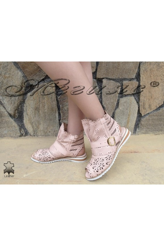 Lady summer boots F-06 rose leather