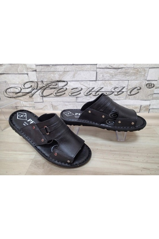 Men's slippers А-101 black