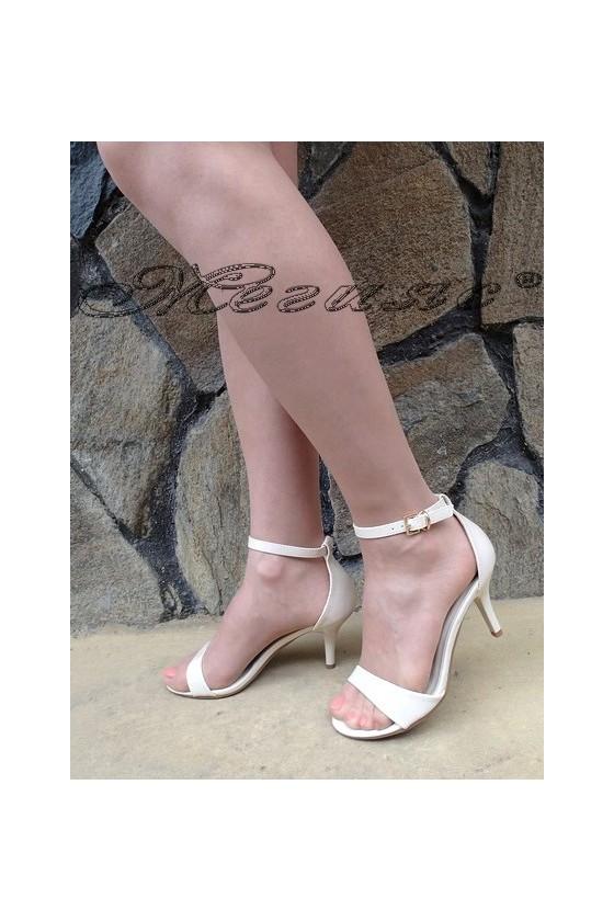 Дамски сандали Stella 1720-207 бежови на среден ток от еко кожа