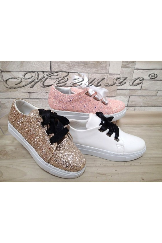 Children's shoes 160 pink/gold/white
