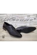 Мъжки обувки Фантазия 8016-57-1 черни мат елегантни от естествена кожа