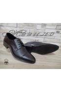 Мъжки/Юношески обувки Фантазия 8017 черни естествена кожа