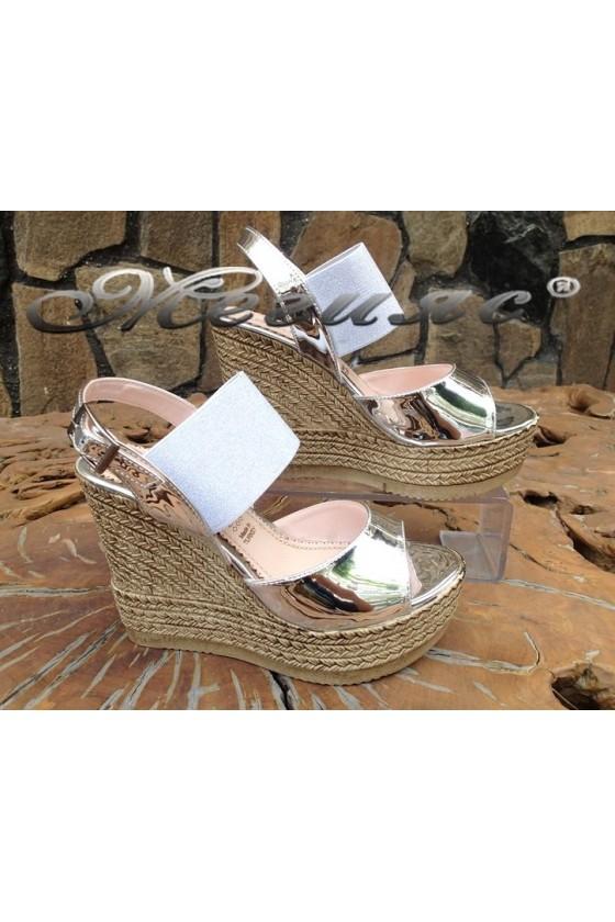 Lady sandals 235 silver pu