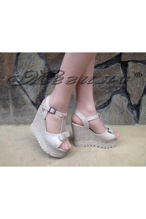 Lady sandals 183 beige pu
