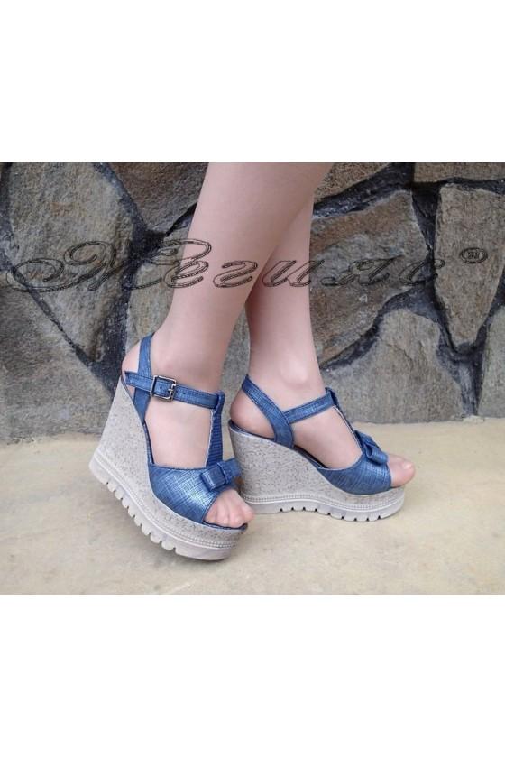 Lady sandals 183 blue pu