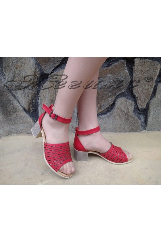 Lady sandals 325 red pu