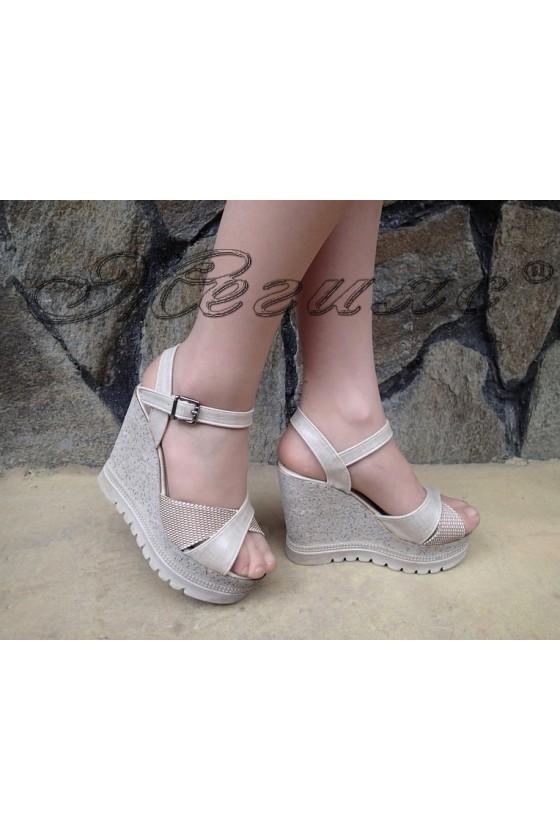 Lady sandals 182 beige pu