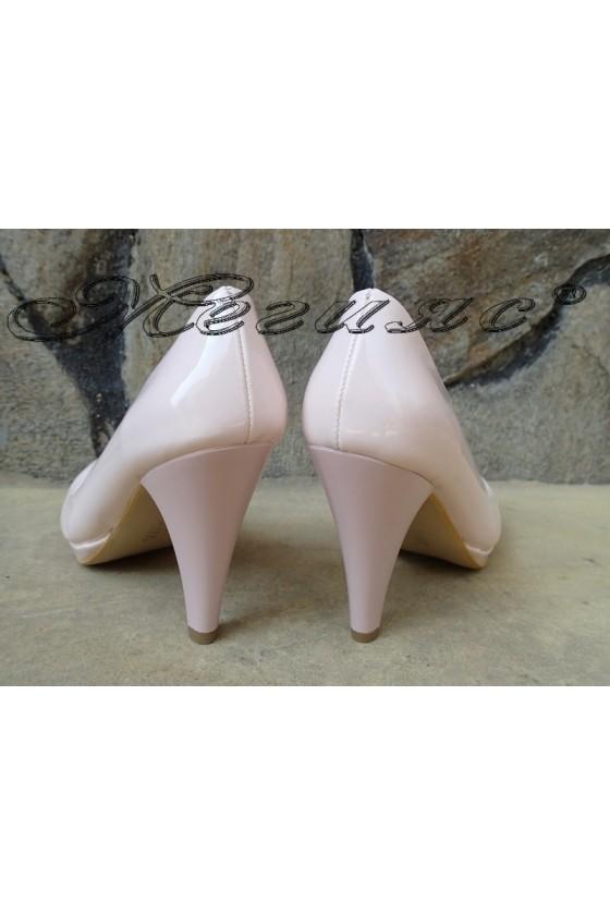 Ladies elegant shoes 510 powder with high heel