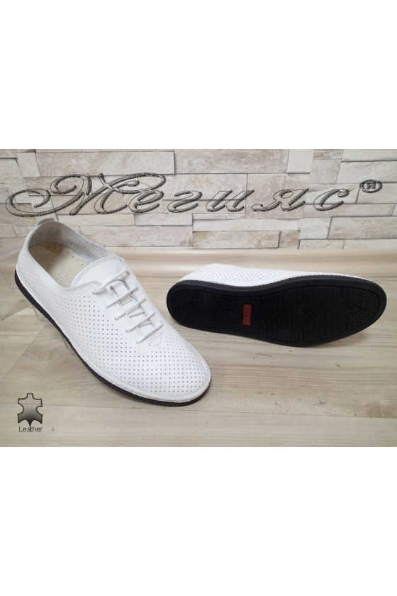 Men's shoes 790 white leather