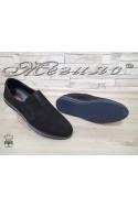 Мъжки обувки Фантазия 18401-1 черни от естествен набук