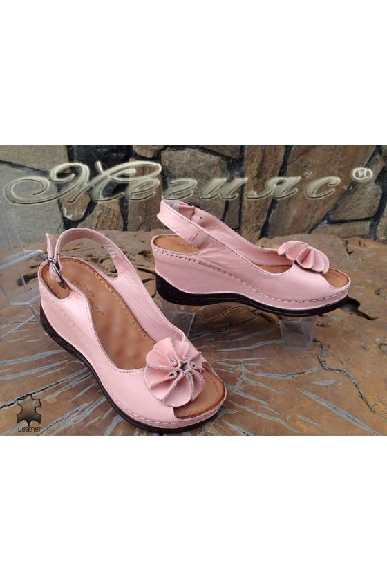 Lady sandals XXL 71-145 pink leather