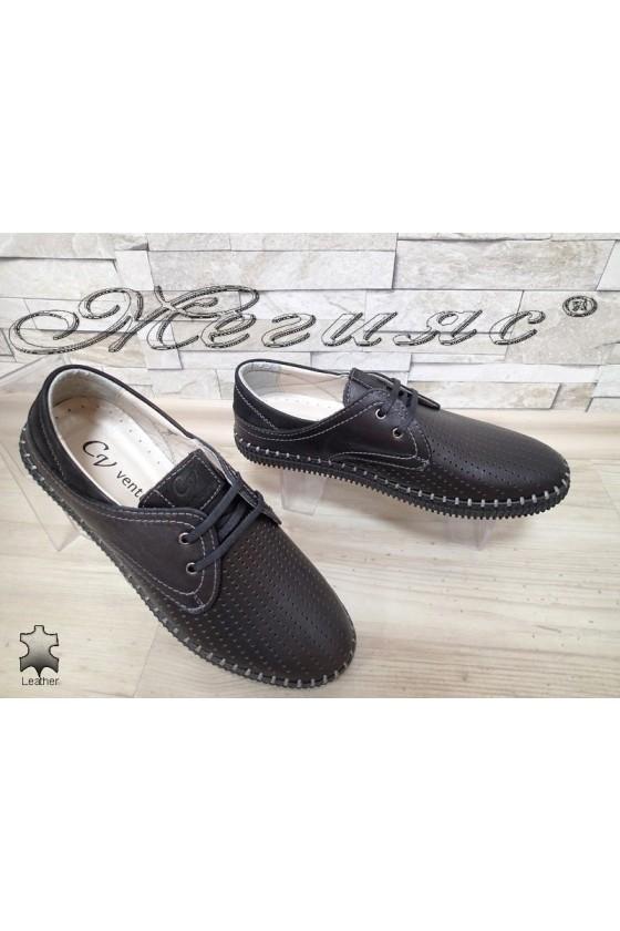 Мъжки обувки 15 черни естествена кожа