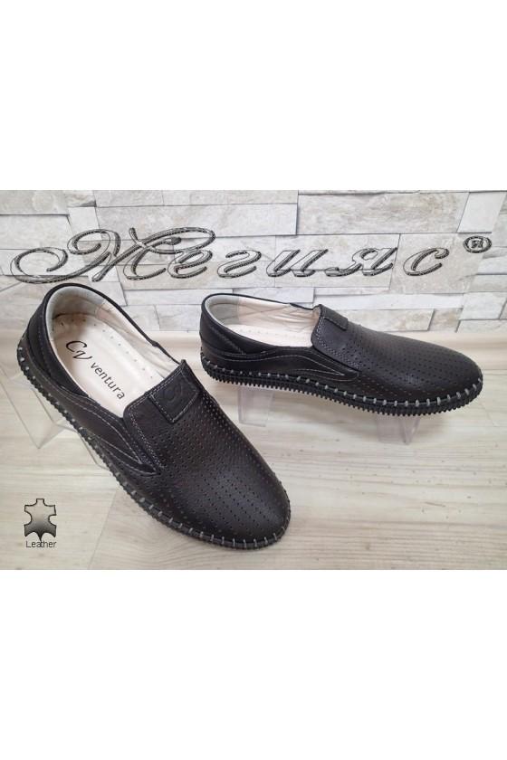 Мъжки обувки 16 черни естествена кожа