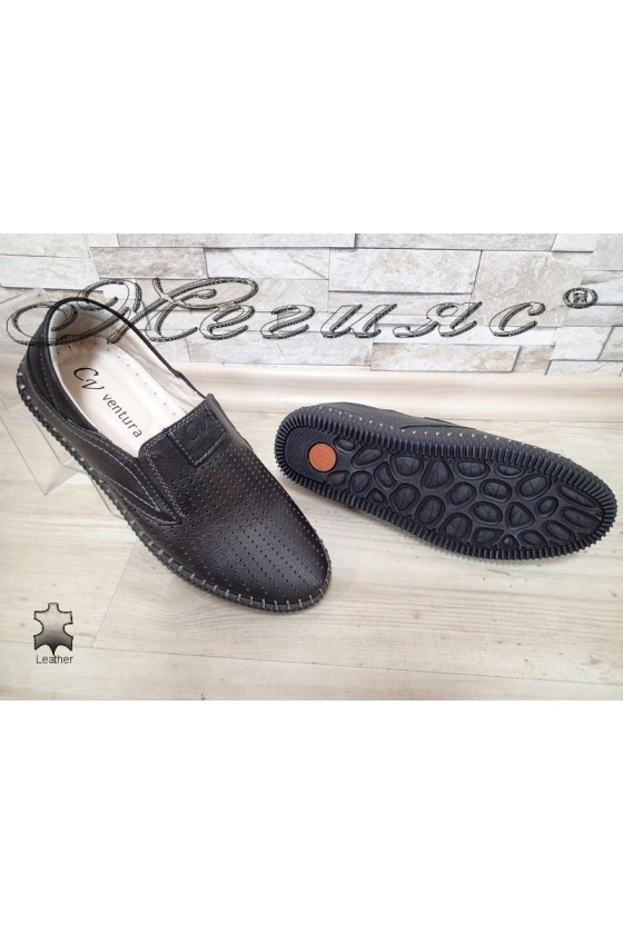 Men shoes 16 black leather