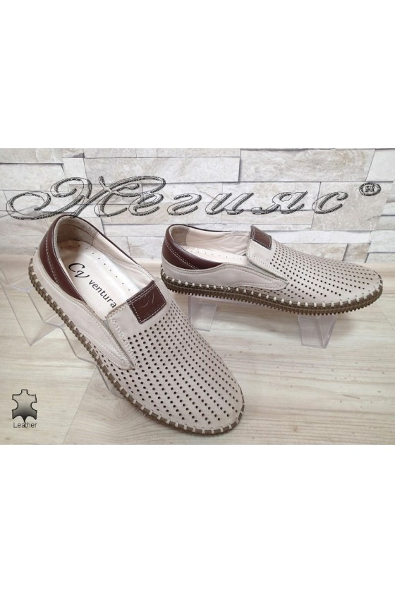 Men shoes 16 beige leather