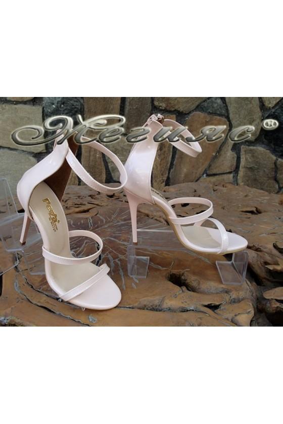 Ladies sandals 6052 pudra patent