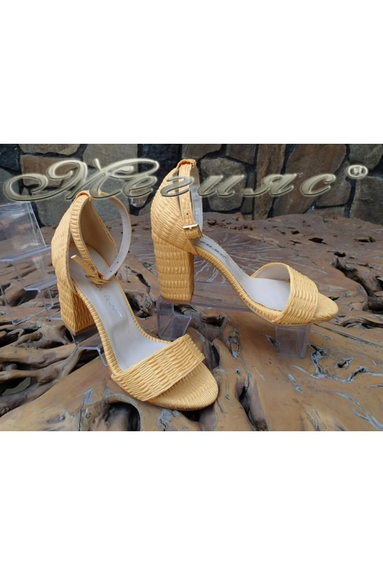Lady sandals 1828 yellow pu