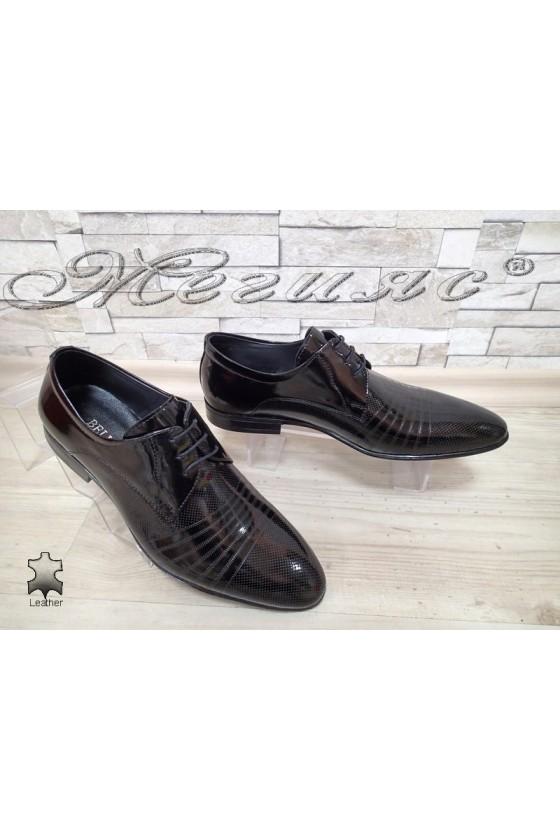 Мъжки обувки 16393-208 черни лак елегантни