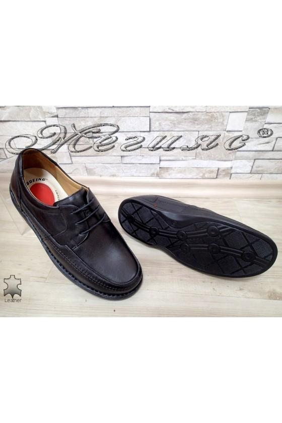 Men's shoes XXL 1602 black leather