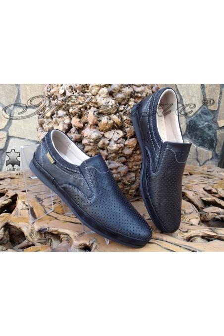 Мъжки обувки 04 PEL черни от естествена кожа