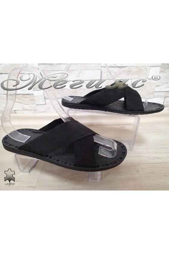 Men's sandals 50_Т black suede