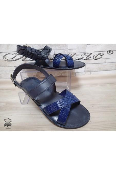 Мъжки сандали 725 сини от естествена кожа