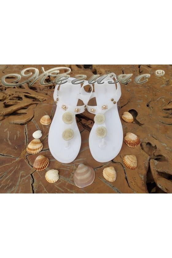 Дамски сандали Lisa 114-1008 бели