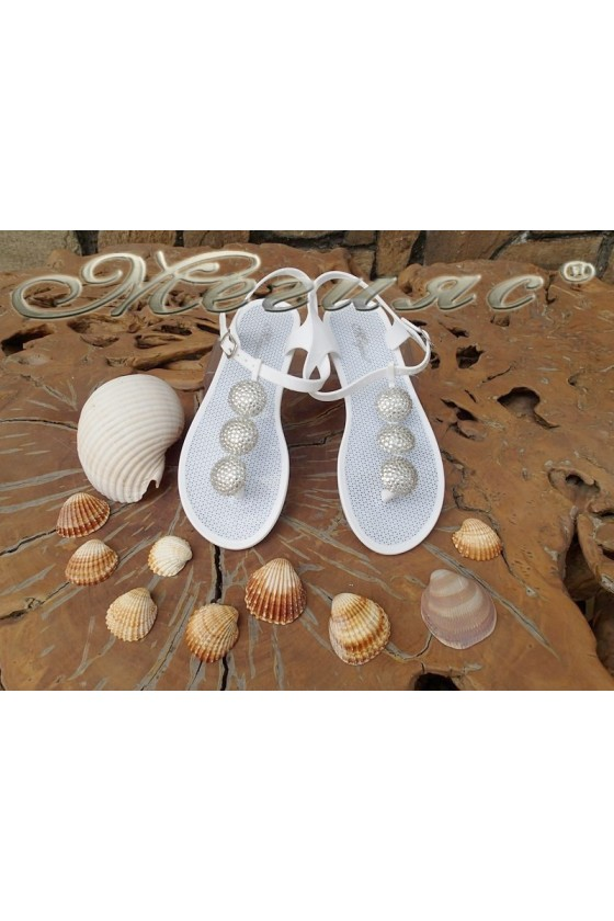 Lady sandals Pan 114-526 white