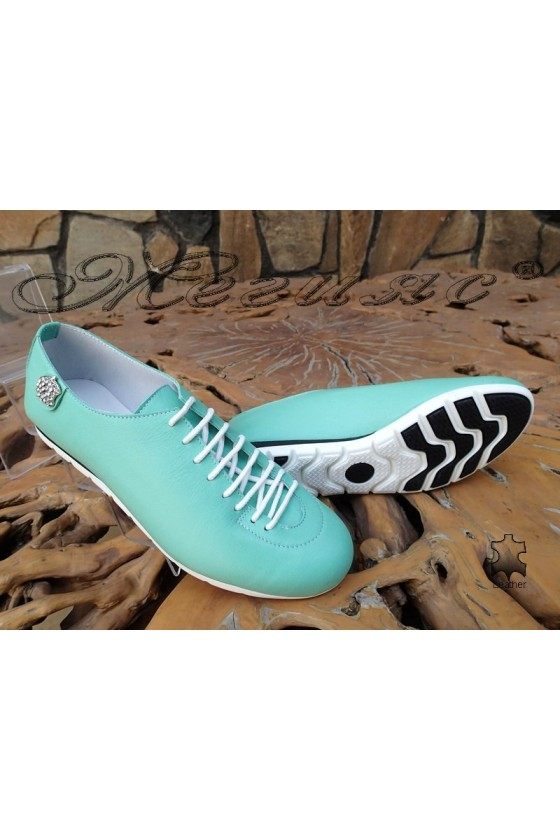 Women shoes 3116 green leather