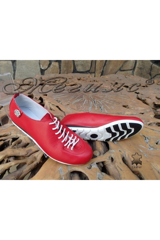 Women shoes 3116 red leather