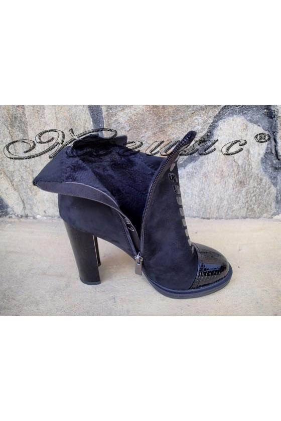 Women boots Christine 20w18-320 black suede