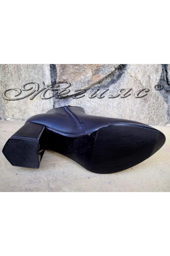 Дамски боти Christine 20w18-325 черни мат с висок ток от еко кожа