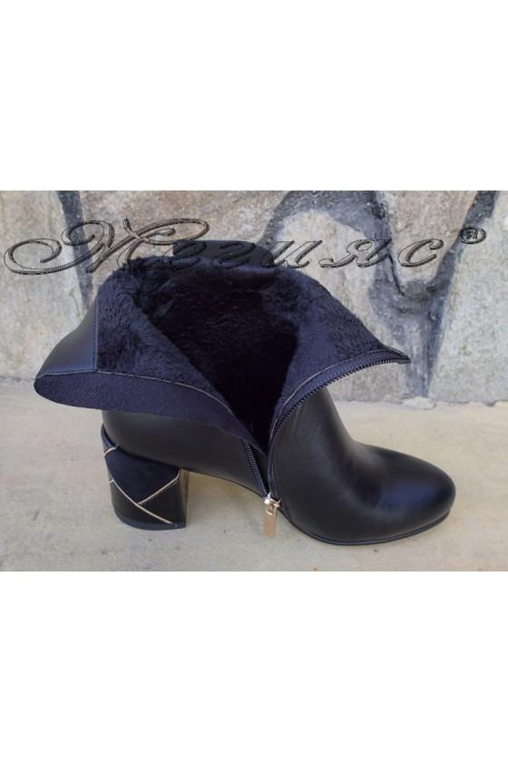 Women boots Christine 20w18-331 black pu