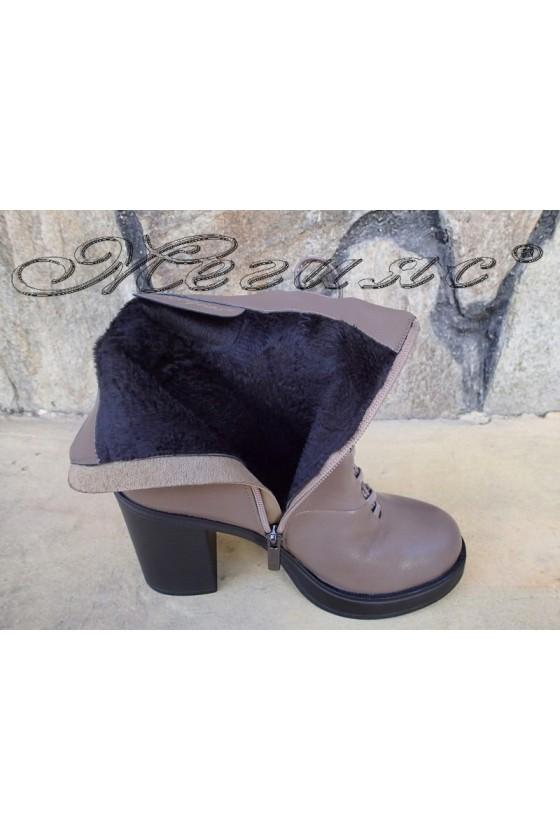 Women boots Christine 20w18-333 dark beige pu