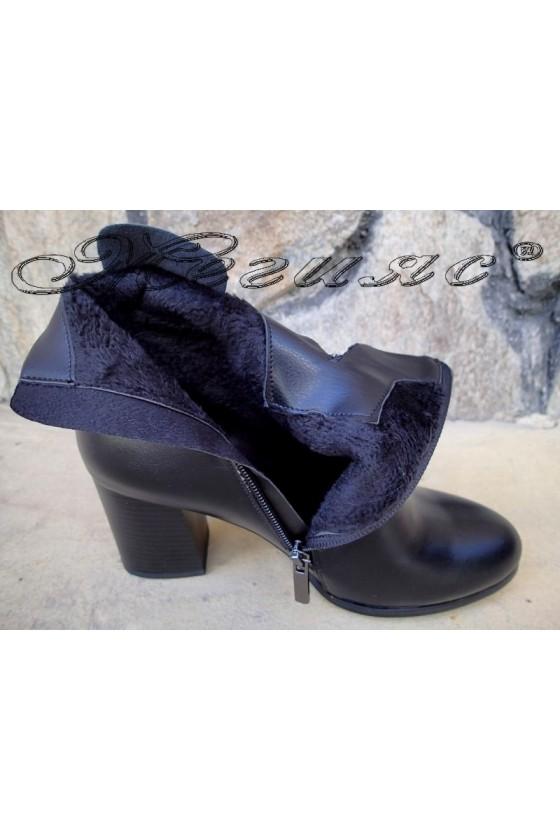 Дамски боти черни с висок ток от еко кожа Christine 20w18-342