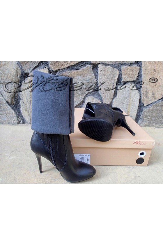 Lady boots Christine 20w18-348 black pu