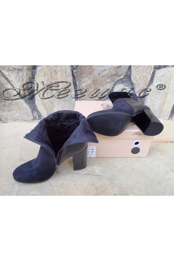 Lady boots Christine 20W18-337-1 black suede
