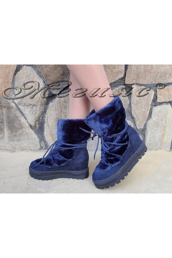 Lady boots Christine 20W18-341 blue suede