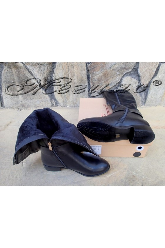 Lady boots Christine 20W18-319 black pu